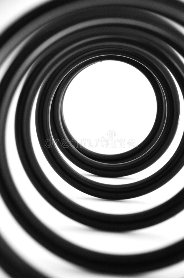 Coil spring. For car to absorb vibration from shock absorber royalty free illustration