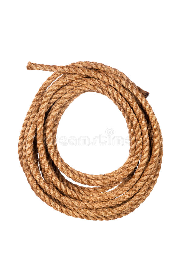 Download Coiled rope stock photo. Image of white, hawser, curve - 26316412