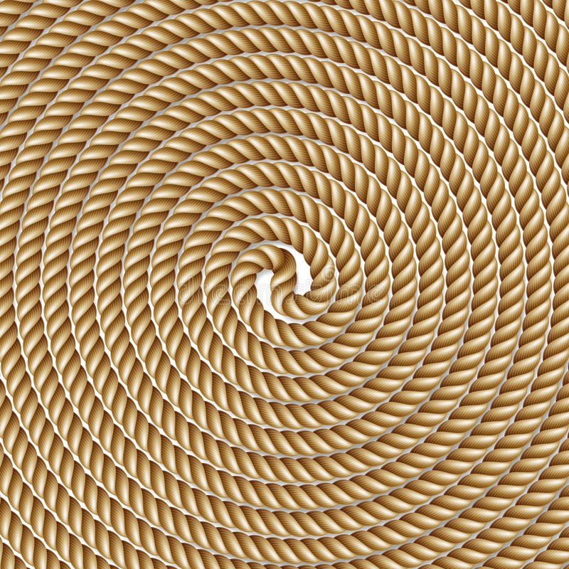 Download Coiled rope in circle stock vector. Image of decoration - 83721977