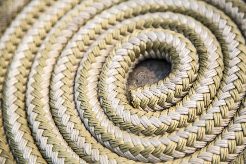 Coiled rope stock photography