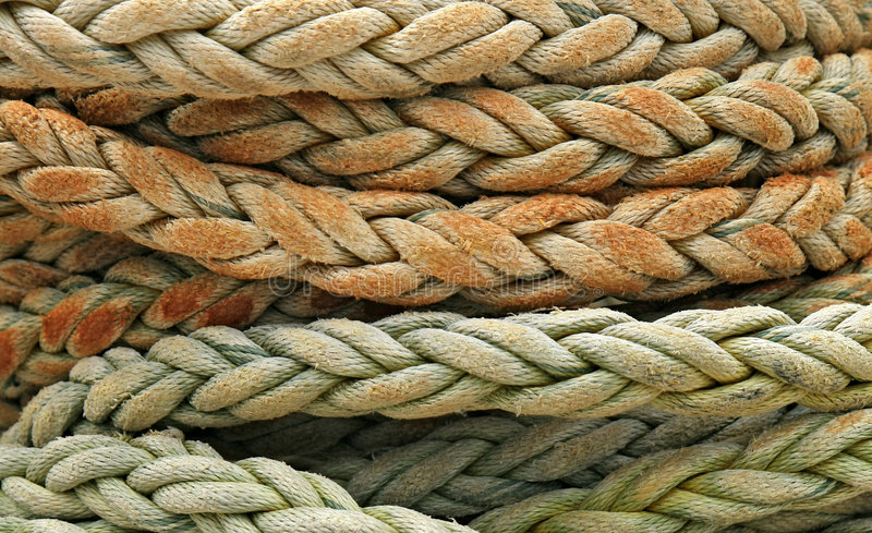 Coiled Rope Detail Stock Photography