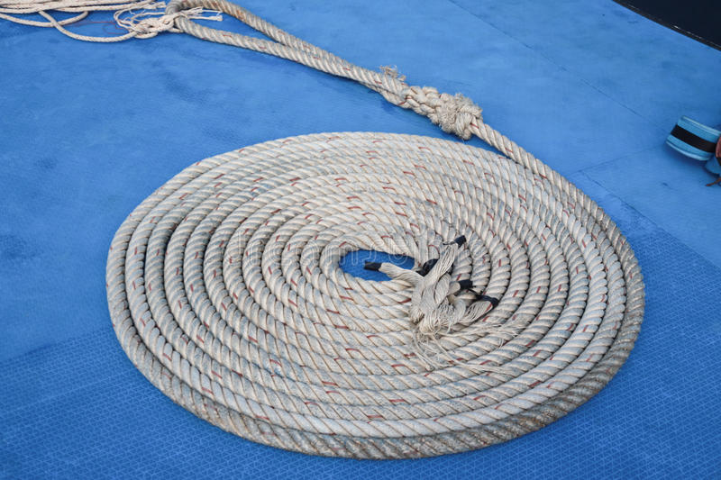Coiled rope. royalty free stock image