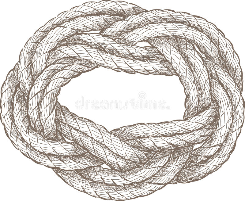 Coiled rope stock illustration