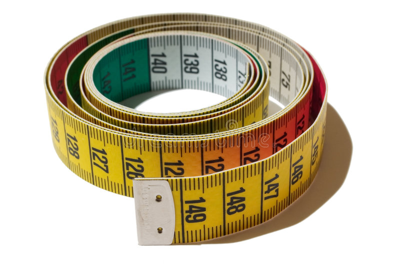 Coiled tape measure royalty free stock image