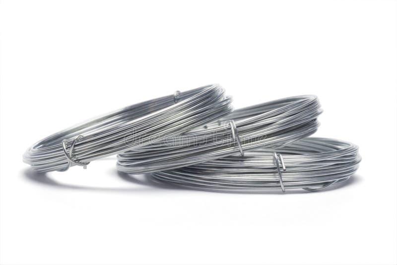 coils galvaniserade trådar fotografering för bildbyråer
