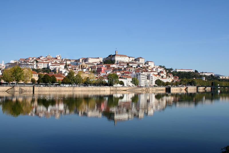 Coimbra. The city of Coimbra with it's University on the top royalty free stock photography