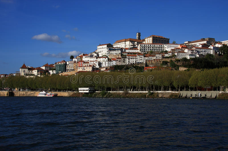 Coimbra 2. Portugal Coimbra - famous historical university city overlooking the Mondego River royalty free stock image