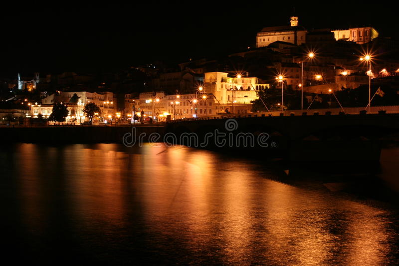 Coimbra. A night view on Coimbra royalty free stock images