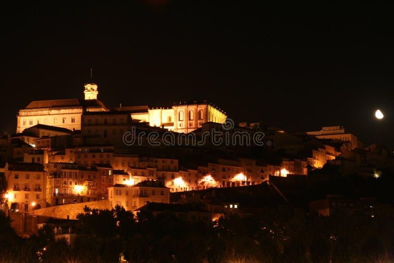Coimbra. A night view on Coimbra stock image