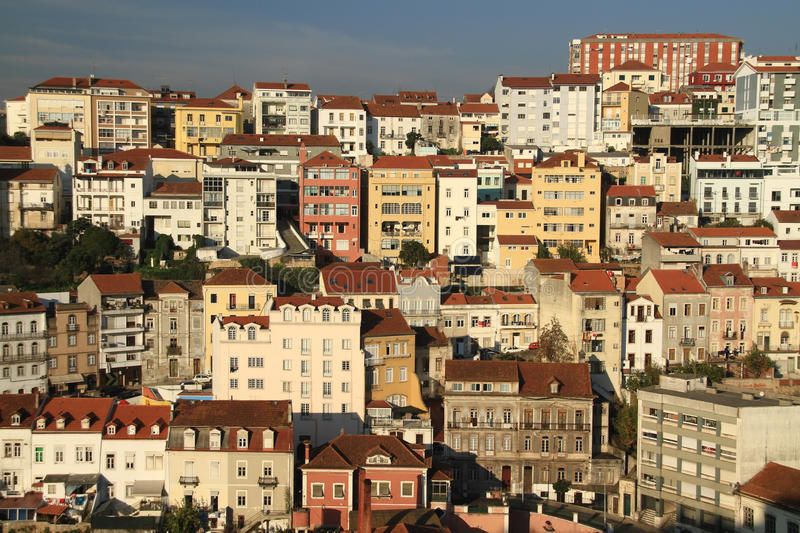 Coimbra. View of Coimbra houses in the afternoon royalty free stock photo