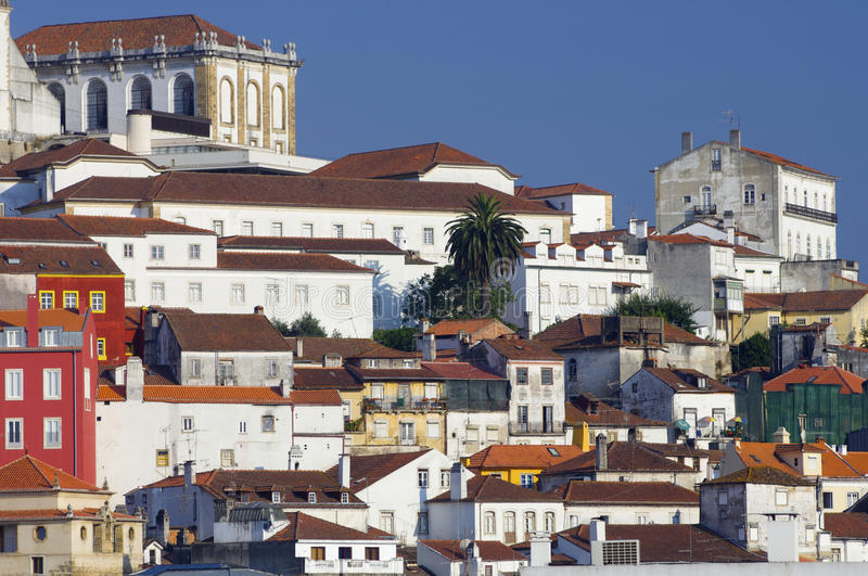 Coimbra. View of the old city of Coimbra in Portugal stock photography