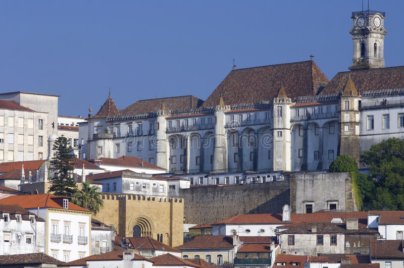 Coimbra. View of the old city of Coimbra in Portugal royalty free stock photography
