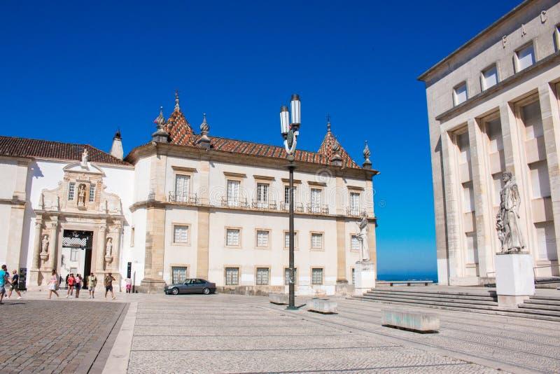 Coimbra, een stad op de rivier in centraal Portugal en vroeger kapitaal van ountry stock afbeeldingen