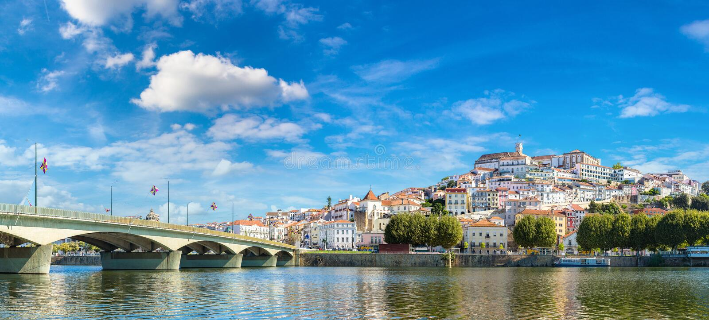 Coimbra, la vieille ville du Portugal images stock