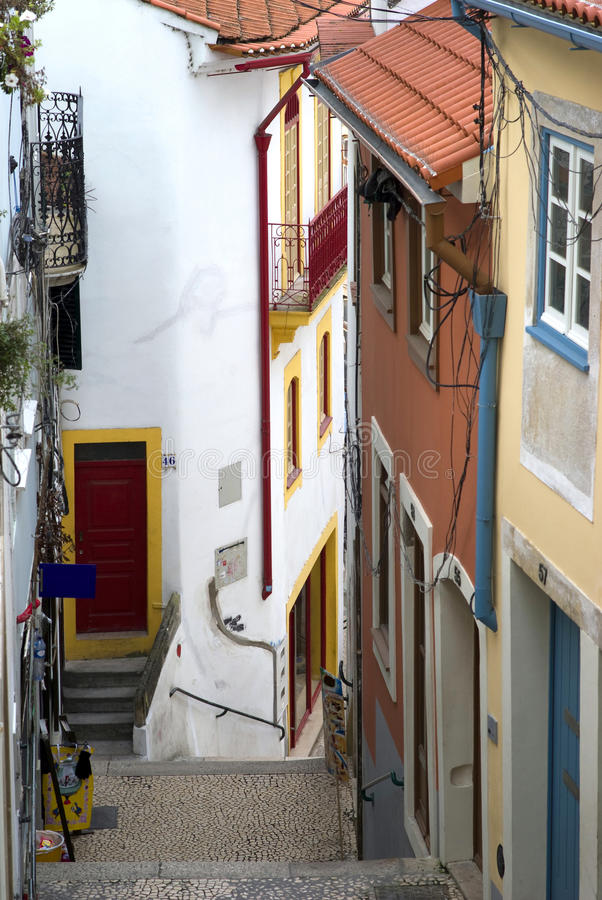 Coimbra, Portugal. Picturesque streets of Coimbra, Portugal stock image