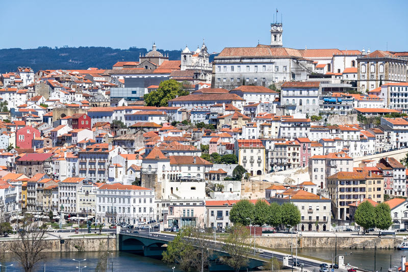 Coimbra in Portugal stock afbeelding