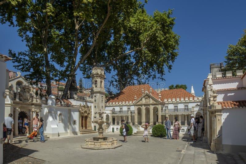 Portugal dos Pequenitos, a miniature park of diminutive versions. Coimbra, Portugal, Agosto 2015: Portugal dos Pequenitos, a miniature park of diminutive stock images