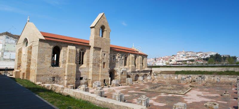 Coimbra, Portugal, Iberian Peninsula, Europe, monastery, church, ruins. Portugal, 28/03/2012: the ruins of the Monastery of Santa Clara a Velha, Old St. Clare, a stock photo