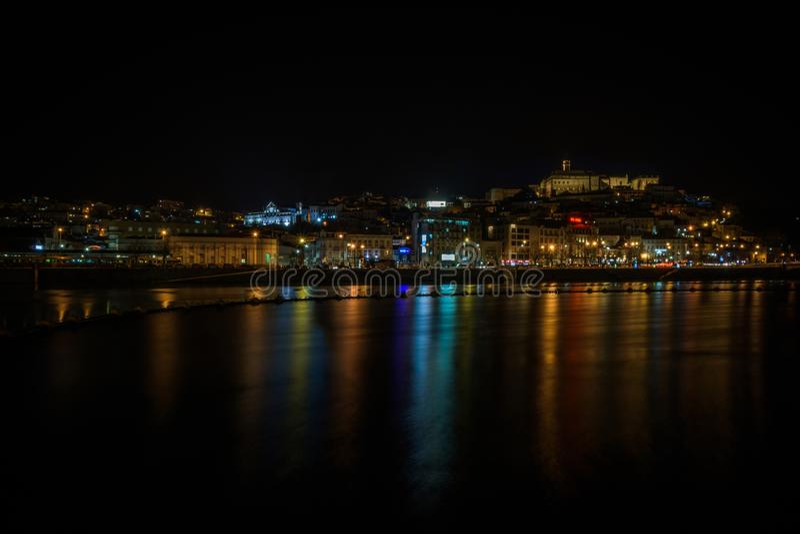 Coimbra reflexioner, Portugal - Februari 2018 royaltyfria foton