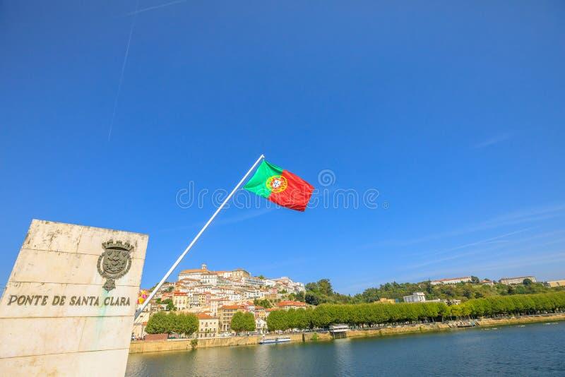 Coimbra Santa Clara most zdjęcia stock