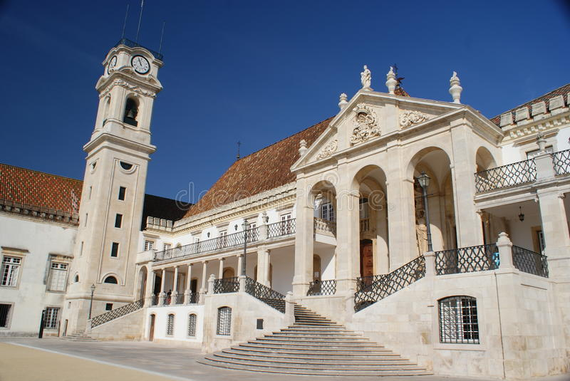 Coimbra univerisity. Coimbra - oldest university in Portual royalty free stock image