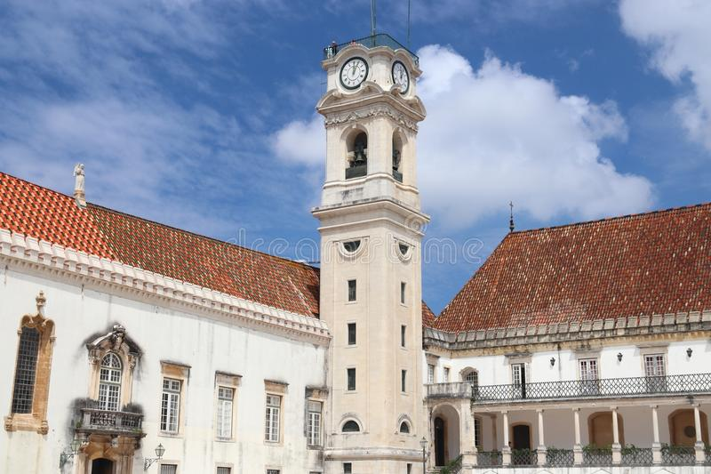 Coimbra University. In Portugal. UNESCO World Heritage Site stock images