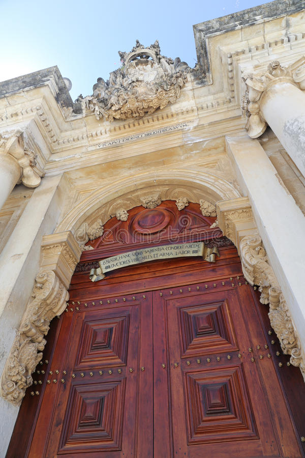 Coimbra University. The Old University of Coimbra in Coimbra, Portugal stock image