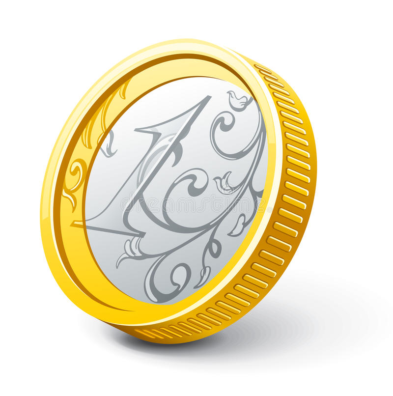 Download Coin stock vector. Image of dimensional, side, currency - 23635515