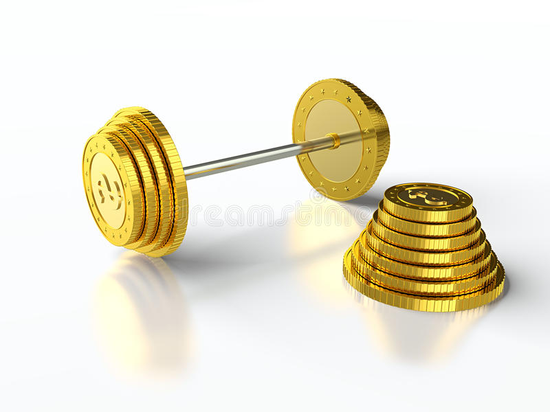 Coin barbell