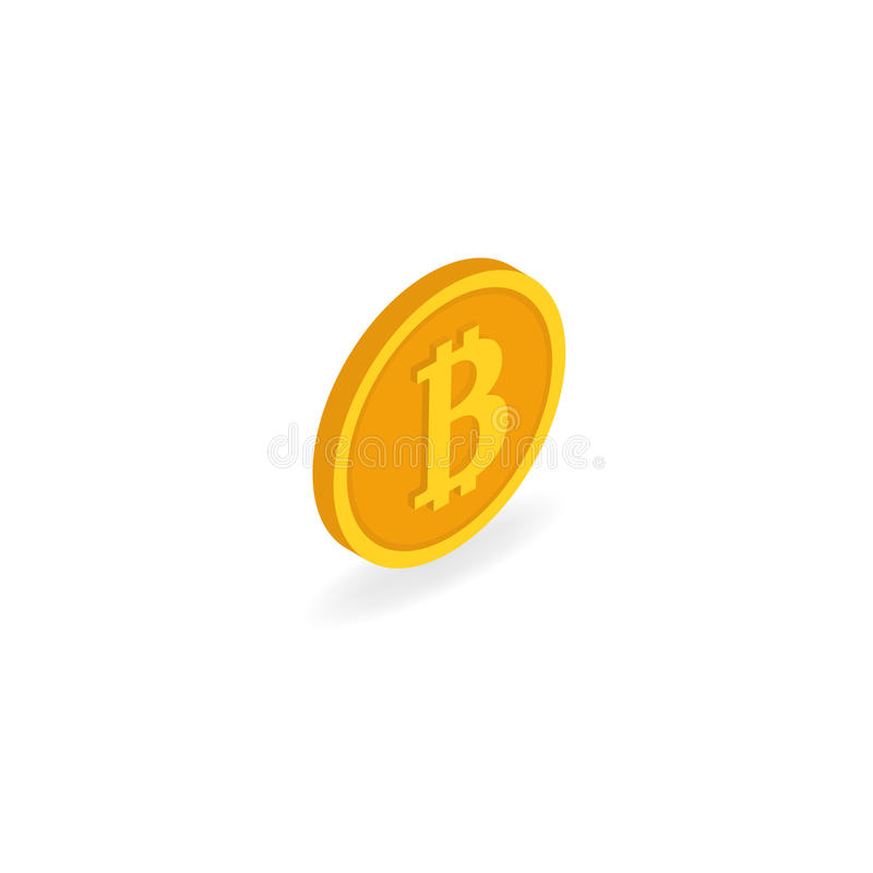 Coin bitcoin on a white background. stock illustration
