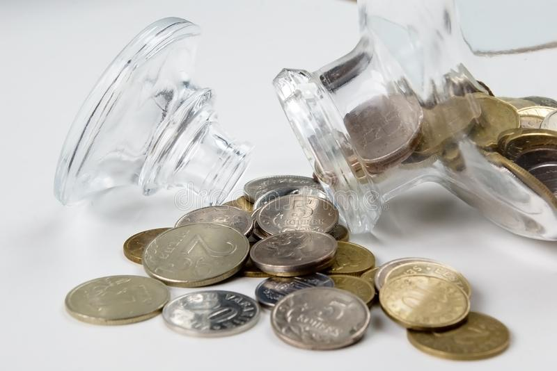 Download Coin bottle stock image. Image of glass, open, copper - 1704029