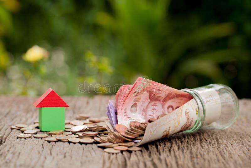 Coin and cash, Saving money concept, concept of financial saving royalty free stock photography