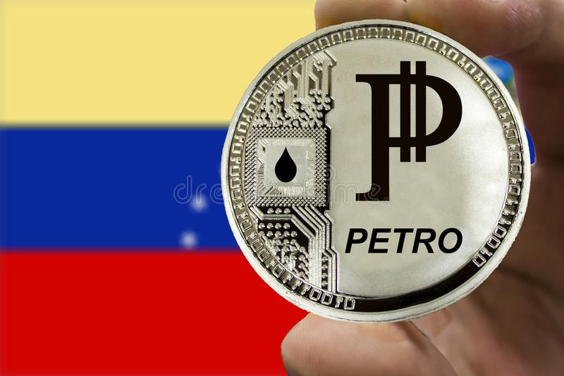 Coin Cryptocurrency Venezuela Petro stock images