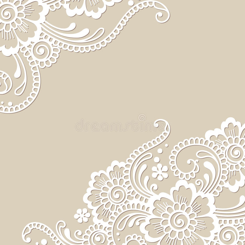 Download Coin D'ornement De Vecteur De Fleur Illustration de Vecteur - Illustration du broderie, beauté: 45356715