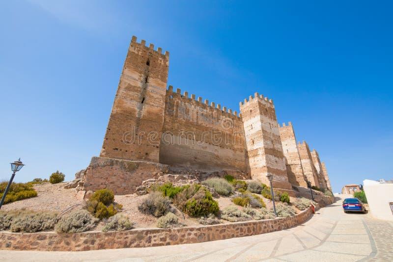 Coin de château de Burgalimar en La Encina de Banos De images libres de droits