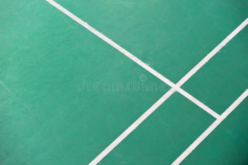 Coin de cour de badminton photo stock