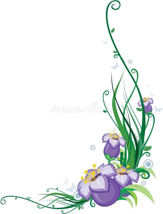 Coin de fleur illustration stock