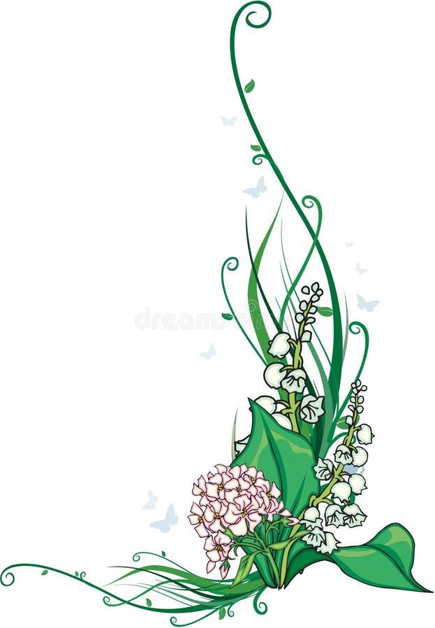 Coin de fleur illustration de vecteur