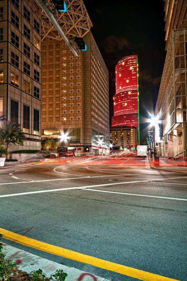 Coin de la rue de Miami image libre de droits