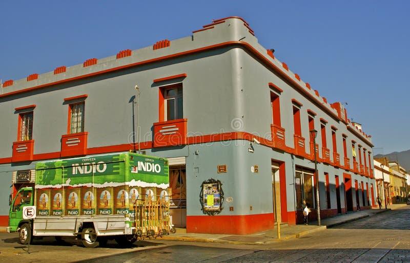 Coin de la rue Oaxaca, Mexique photographie stock libre de droits