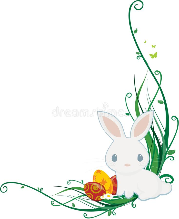 Coin de lapin de Pâques illustration libre de droits