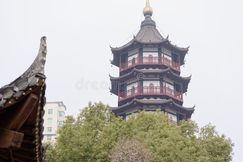 Coin de pagoda-Un d'or de corde du parc images libres de droits