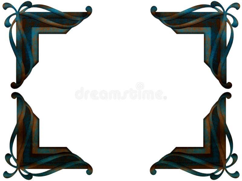 Coin de photo de patine artificielle illustration de vecteur