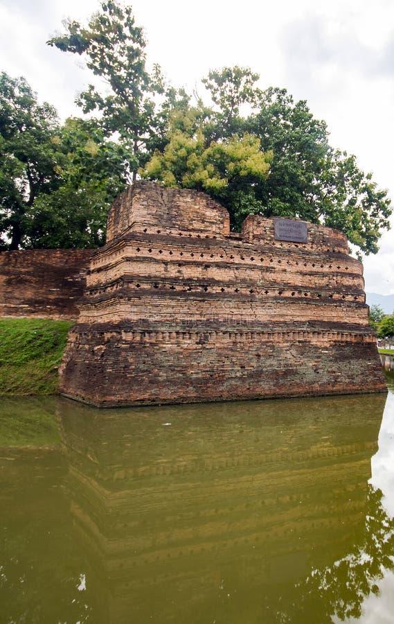 Coin de SI Phum le mur antique en Chiang Mai photographie stock
