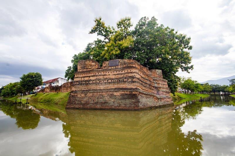 Coin de SI Phum le mur antique en Chiang Mai image libre de droits