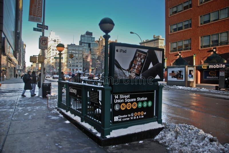 Coin de souterrain de New York City photos libres de droits