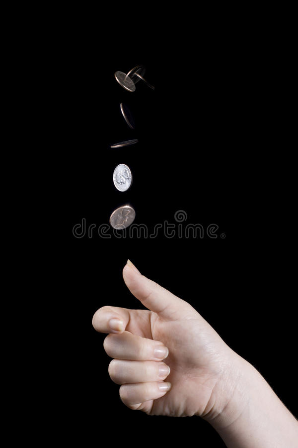 Download Coin flip stock image. Image of movement, decision, black - 10852969