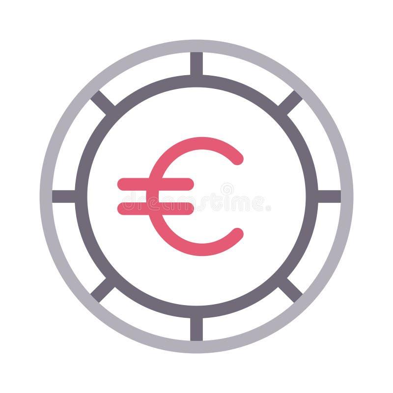 Coin colour line vector icon vector illustration