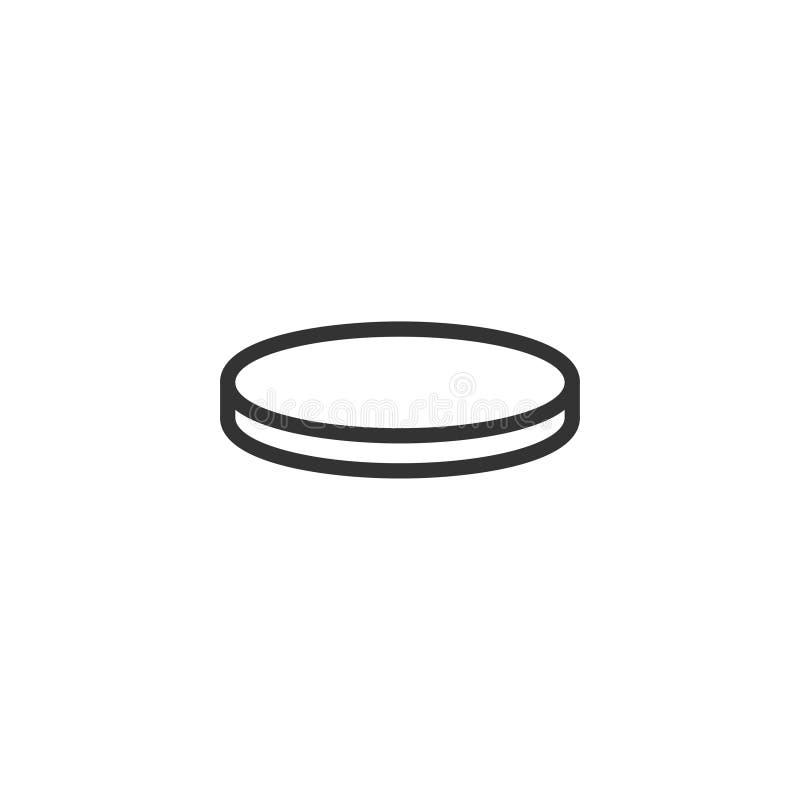 Coin icon flat stock illustration