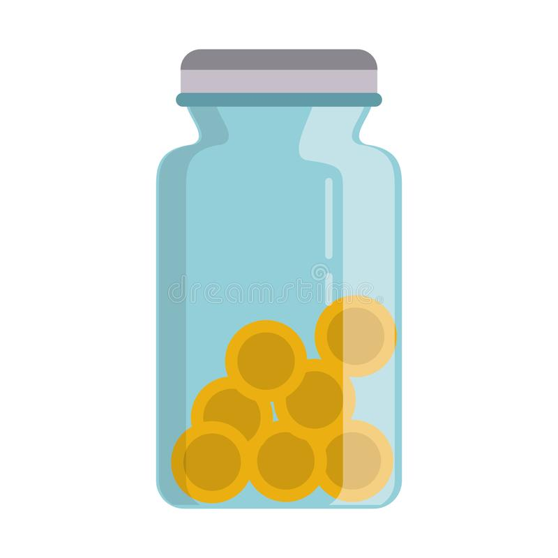 Free Coin Jar Savings Isolated Stock Image - 145145671